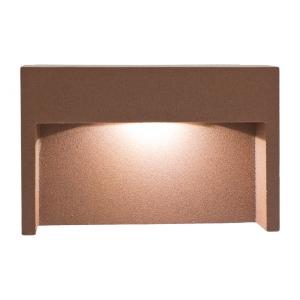 wandeinbauleuchte led wei 3w rost braun ip65 aluminium ko light service. Black Bedroom Furniture Sets. Home Design Ideas