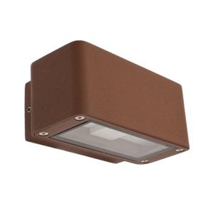 wandleuchte led 12w rost braun ip54 aluminium ko light service. Black Bedroom Furniture Sets. Home Design Ideas