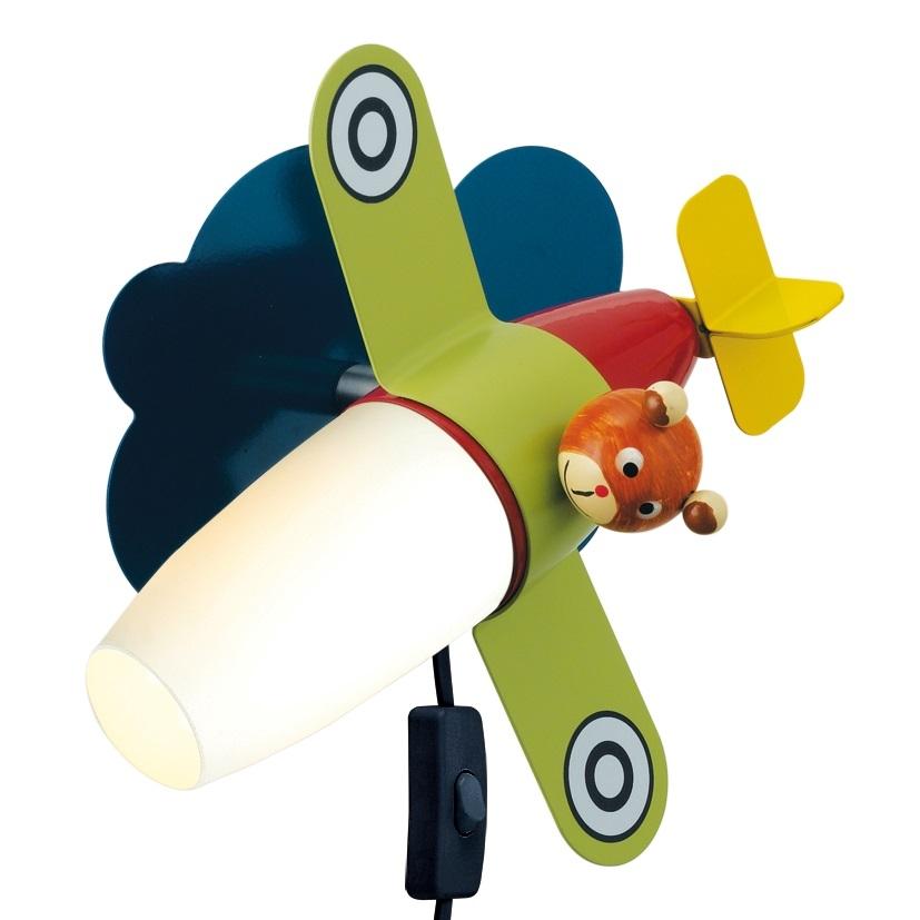 LED stanza bambini, applique, E14 1x4W, aviatore colorato - Öko Light Service