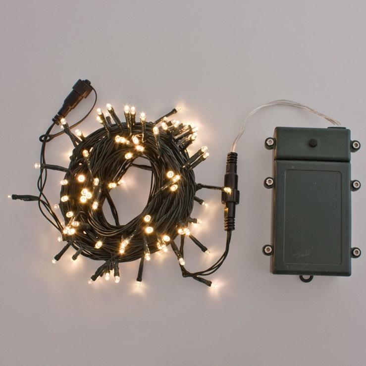 led lichterkette batteriebetrieben 10mt 100 warmwei e leds ko light service. Black Bedroom Furniture Sets. Home Design Ideas