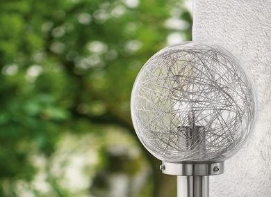 Lampada applique nisia e ip acciaio vetro con filo Öko