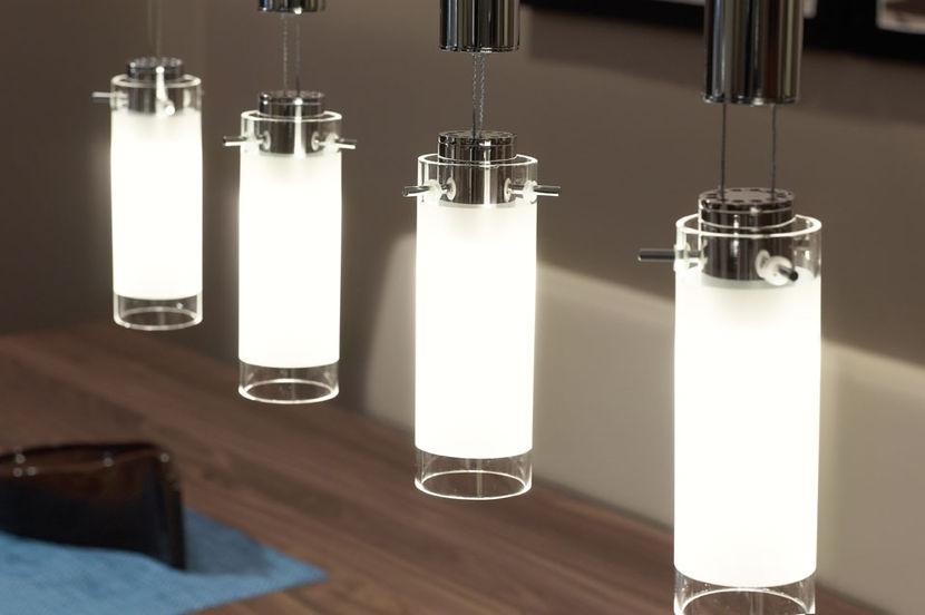 Lampadari a sospensione vetro satinato lampada a sospensione in