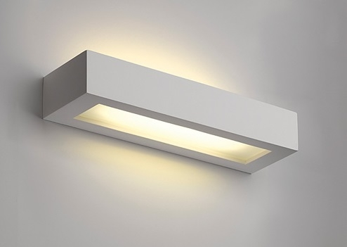 Lamp. applique di gesso gl103 t5 bianco g5 t5 Öko light service