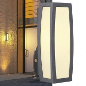 MERIDIAN Wandleuchte Aluminium/PC anthrazit E27 LED IP54