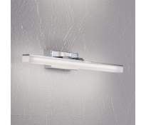 LED-Wandleuchte Bad IP44, 10W, 900lm, 3000K-ww, Metall chrom, Glas Acryl satiniert